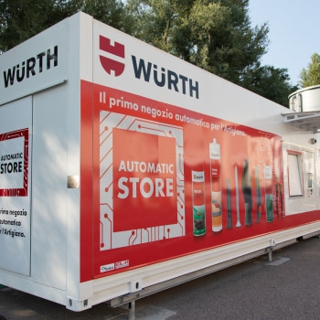 ICAM Online En | Würth Automatic Store: a new sales format that can be used in self-service mode, 24 hours a day, 7 days a week